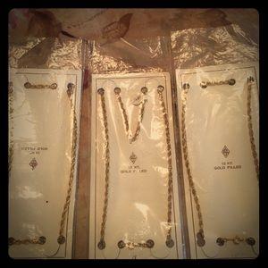Jewelry - 3 (12 karat gold filled) chains